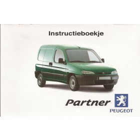 Peugeot Partner Instructieboekje Benzine/Diesel Fabrikant 01 met gebruikssporen in originele map Nederlands