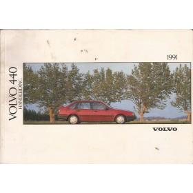 Volvo 440 Instructieboekje  MY 1991 Benzine Fabrikant 90 met gebruikssporen   Nederlands