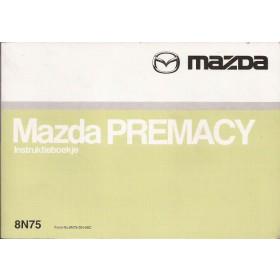 Mazda Premacy Instructieboekje   Benzine Fabrikant 99 met gebruikssporen   Nederlands