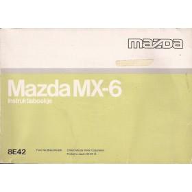 Mazda MX-6 Instructieboekje   Benzine Fabrikant 92 met gebruikssporen   Nederlands