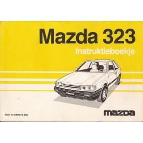 Mazda 323 Instructieboekje   Benzine Fabrikant 85 met gebruikssporen   Nederlands/Frans