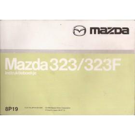Mazda 323 / 323F Instructieboekje   Benzine/Diesel Fabrikant 98 met gebruikssporen   Nederlands