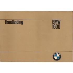 BMW 1600 Instructieboekje Benzine Fabrikant 66 met gebruikssporen Nederlands