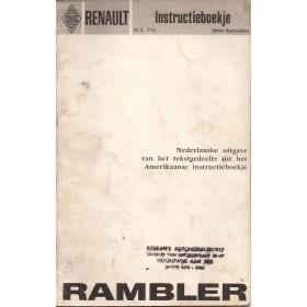 Renault Rambler Instructieboekje Benzine Fabrikant ca 66 met gebruikssporen Nederlands