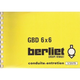 Berliet GBD Instructieboekje Diesel Fabrikant 77 ongebruikt Frans