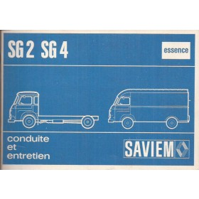 Saviem SG2/SG4 Instructieboekje Benzine Fabrikant 73 ongebruikt Frans