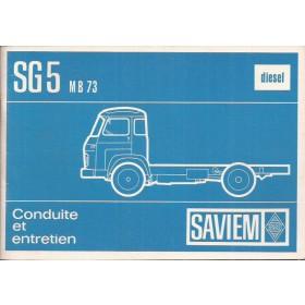 Saviem SG5 Instructieboekje Diesel Fabrikant 71 ongebruikt Frans