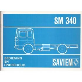 Saviem SM340 Instructieboekje Diesel Fabrikant ca 72 ongebruikt Nederlands
