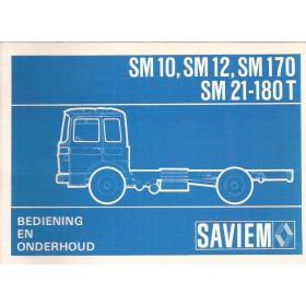 Saviem SM10/SM12/SM170/SM21-180T Instructieboekje Diesel Fabrikant ca 74 ongebruikt Nederlands