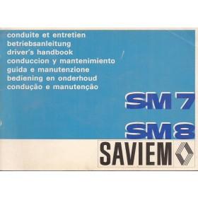 Saviem SM7/SM8 Instructieboekje Diesel Fabrikant 76 ongebruikt Nederlands/Frans/Duits/Engels/Italiaans/Spaans
