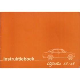 Alfa Romeo Alfetta Instructieboekje   Benzine Fabrikant 78 ongebruikt  Nederlands