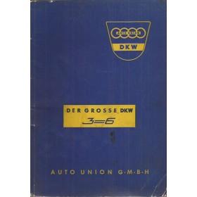 DKW 3=6 Der Grosse Instructieboekje Benzine Fabrikant 59 met gebruikssporen Duits
