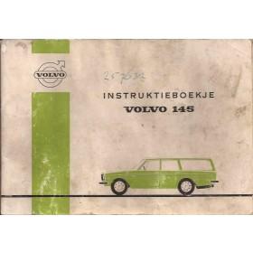 Volvo 145 Instructieboekje Benzine Fabrikant 71 met gebruikssporen lichte vochtschade Nederlands