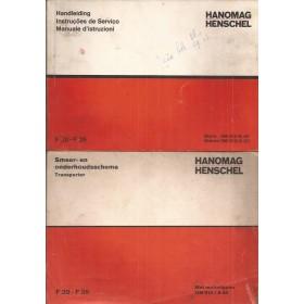 Hanomag Henschel F20/F35 Instructieboekje Benzine/Diesel Fabrikant 72 met gebruikssporen Nederlands/Spaans/Italiaans
