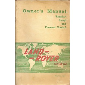 Land-Rover Series IIA Instructieboekje Benzine/Diesel Fabrikant 64 met gebruikssporen Engels