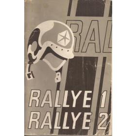 Simca 1000 Rallye 1 Rallye 2 Instructieboekje Benzine Fabrikant 74 met gebruikssporen plakband om rug Nederlands