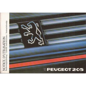 Peugeot 205 Instructieboekje Benzine-Diesel Fabrikant 87 ongebruikt Nederlands/Frans/Duits/Italiaans
