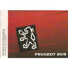 Peugeot 205 Instructieboekje Benzine-Diesel Fabrikant 90 ongebruikt   Nederlands/Frans/Engels