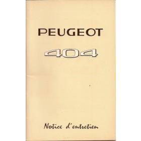 Peugeot 404 Instructieboekje Benzine Fabrikant 62 ongebruikt Frans