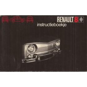 Renault 8 Instructieboekje Benzine Fabrikant 70 ongebruikt Nederlands