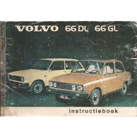 Volvo 66 Instructieboekje   Benzine Fabrikant 1975 met gebruikssporen lelijke kaft Nederlands