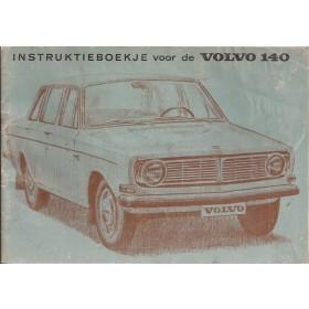 Volvo 140 Instructieboekje Benzine Fabrikant 1968 met gebruikssporen Nederlands