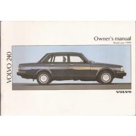 Volvo 240 Instructieboekje Benzine Fabrikant 1990 ongebruikt Engels
