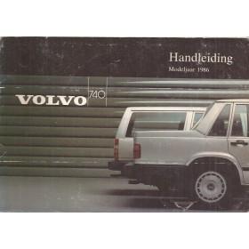 Volvo 740 Instructieboekje Benzine/Diesel Fabrikant 1985 MY1986 met gebruikssporen Nederlands