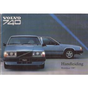 Volvo 740 Instructieboekje Benzine/Diesel Fabrikant 1986 MY1987 met gebruikssporen Nederlands