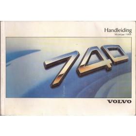 Volvo 740 Instructieboekje Benzine/Diesel Fabrikant 1987 MY1988 met gebruikssporen lichte vochtschade Nederlands