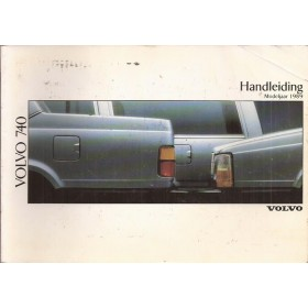 Volvo 740 Instructieboekje Benzine/Diesel Fabrikant 1988 MY1989 met gebruikssporen Nederlands