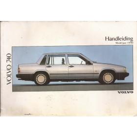 Volvo 740 Instructieboekje Benzine/Diesel Fabrikant 1989 MY1990 met gebruikssporen Nederlands