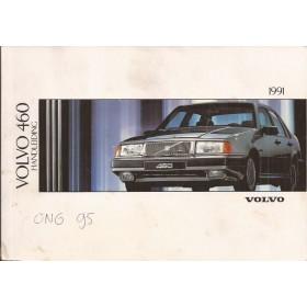 Volvo 460 Instructieboekje  MY 1991 Benzine Fabrikant 90 met gebruikssporen   Nederlands