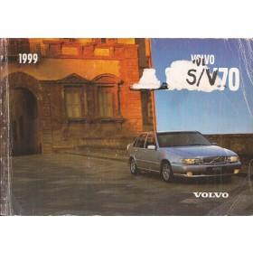 Volvo S70/V70 Instructieboekje Benzine/Diesel Fabrikant 1999 met gebruikssporen lelijke kaft  Nederlands