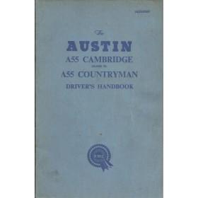 Austin A55 Cambridge Countryman Instructieboekje Benzine Fabrikant 1961 met gebruikssporen   Engels
