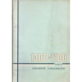 Austin 1100 1300 Instructieboekje Benzine Fabrikant 1971 met gebruikssporen   Engels