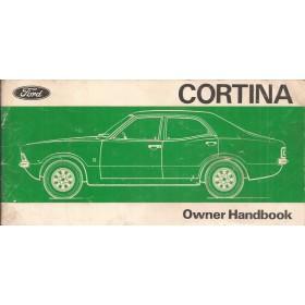 Ford Cortina Instructieboekje  Mk3 Benzine Fabrikant 1976 met gebruikssporen   Engels