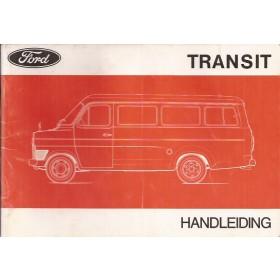 Ford Transit Instructieboekje   Benzine/Diesel Fabrikant 1973 met gebruikssporen   Nederlands