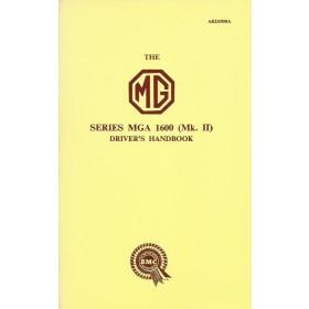 MG MGA Instructieboekje 1600 MK II Benzine Fabrikant 1958 ongebruikt Engels