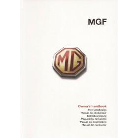 MG MGF Instructieboekje Benzine Fabrikant 2000 ongebruikt Engels