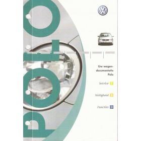 Volkswagen Polo Instructieboekje in origineel multomapje Benzine/Diesel Fabrikant 2001 met gebruikssporen Nederlands