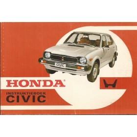 Honda Civic Mk1 Instructieboekje Benzine Fabrikant 1977 ongebruikt oranje kaft  Nederlands