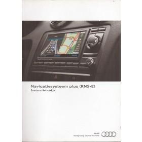 Audi Navigatie RNS-E Instructieboekje Benzine/Diesel Fabrikant 2010 met gebruikssporen Nederlands