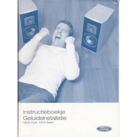 Ford Audiosysteem Instructieboekje Benzine/Diesel Fabrikant 2005 ongebruikt Nederlands