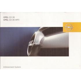 Opel Audiosysteem Instructieboekje Benzine/Diesel Fabrikant 2004 ongebruikt Engelstalig/Duitstalig/Franstalig