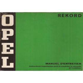 Opel Rekord C Instructieboekje Benzine/Diesel Fabrikant 1974 met gebruikssporen Frans