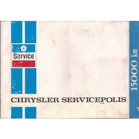 Chrysler Simca Onderhoudsboekje Benzine Fabrikant 1978 met gebruikssporen 1 coupon gebruikt  Nederlands