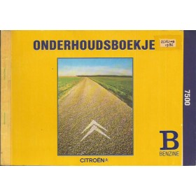 Citroen Onderhoudsboekje Benzine Fabrikant 1981 met gebruikssporen 1 coupon gebruikt Nederlands