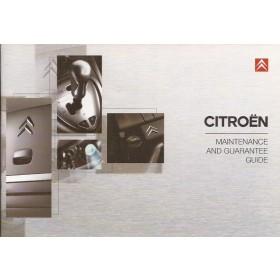 Citroen Onderhoudsboekje Benzine/Diesel Fabrikant 2005 ongebruikt Engels