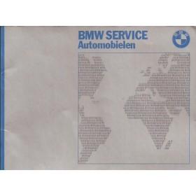 BMW Onderhoudsboekje Benzine Fabrikant 1977 met gebruikssporen 1 vel met coupons gebruikt  Nederlands